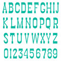 Serif font green a white background vector Stock Photography