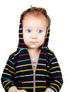 Serious baby boy Royalty Free Stock Photography