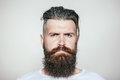 Serious bearded man Royalty Free Stock Photo