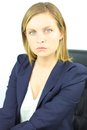 Serious business woman looking blond angry concept Royalty Free Stock Photo