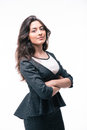 Serious businesswoman standing with arms folded Royalty Free Stock Photo