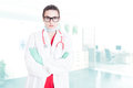 Serious doctor with folded arms Royalty Free Stock Photo