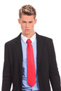 Serious executive in suit posing Royalty Free Stock Image