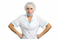 Serious female mature doctor. Royalty Free Stock Photo