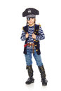 Serious little boy pirate Royalty Free Stock Photo