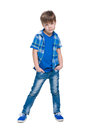 Serious little boy Royalty Free Stock Photo