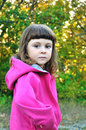 Serious little girl Royalty Free Stock Photo