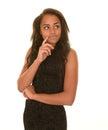 Serious teen girl Royalty Free Stock Photo