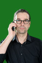Seriously telephone call Royalty Free Stock Photo