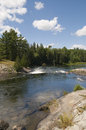 Serpant river in northern ontario close to sault st mare Royalty Free Stock Images