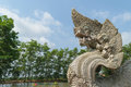 Serpent Or Naga Statue Head