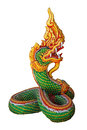 Serpent statue the art of in isolate Stock Photography