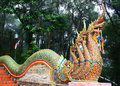 The serpent is a symbol relating story in buddhism can be seen at temple on thailand country Stock Photography