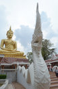 Serpent in temple from chiangmai thailand Stock Images