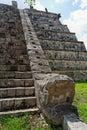 Serpent Temple Chichen Itza Mexico Stock Image
