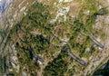 Serpentine mountain road in Montenegro Royalty Free Stock Photo