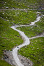 Serpentine road in himalayas mountains himachal pradesh india Stock Images