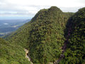Serra do mar the mountain range seen from the old road to santos Royalty Free Stock Photo