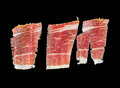 Serrano ham slices Stock Photography