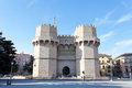 Serranos towers a view of the a medieval gate in valencia Stock Photo