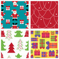 Sert of xmas seamless patterns Royalty Free Stock Photo