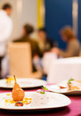 Served table in a restaurant Royalty Free Stock Photography