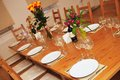The served table in room Stock Image