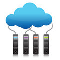Server backup cloud computing concept Royalty Free Stock Photo