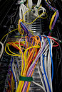 Server data wires and cables Royalty Free Stock Photo