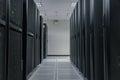 Server farm in data center Royalty Free Stock Photo