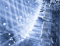 Server fiber optics background Royalty Free Stock Photography