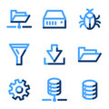 Server icons Stock Photos