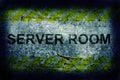 Server room grunge background Stock Photography