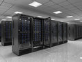 Server room modern d render Royalty Free Stock Photos
