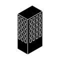 Server tower isometric icon Royalty Free Stock Photo