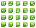Server web icons, green sticker series Royalty Free Stock Photo