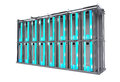 Servers Rack Isolated Stock Image