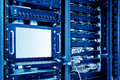 Servers and switches Royalty Free Stock Photo