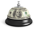 Service bell and dollar image with clipping path Stock Photo