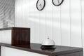 Service Bell over Reception Desk  3d render interior