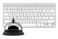 Service Bell ring with keyboard Royalty Free Stock Photo