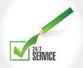 Service check list sign concept illustration design icon graphic Royalty Free Stock Photos