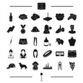Service, clothing, appearance and other web icon in black style. style, animal, industry, alcohol icons in set