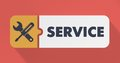 Service Concept in Flat Design. Royalty Free Stock Photo