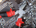 Service electronics background close up Stock Photography