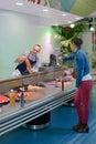 Service at fish counter Royalty Free Stock Photo