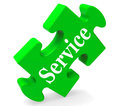 Service Means Help Support And Assistance Royalty Free Stock Photos
