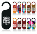 Service my room a set of please signs Stock Photography