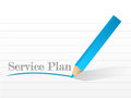 Service plan message illustration design over white Stock Images