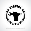 Service poster vector clip art Royalty Free Stock Photos
